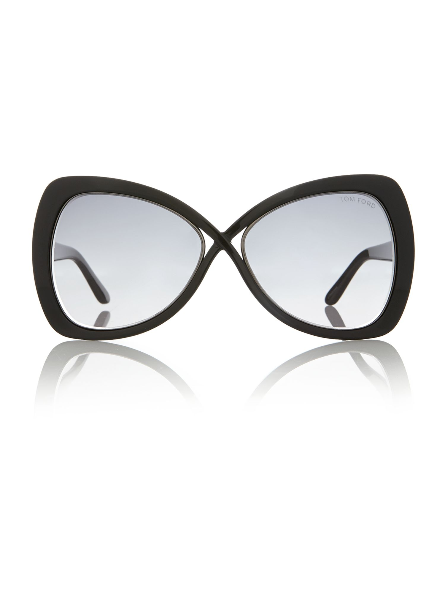 Ladies FT0277 black jade sunglasses
