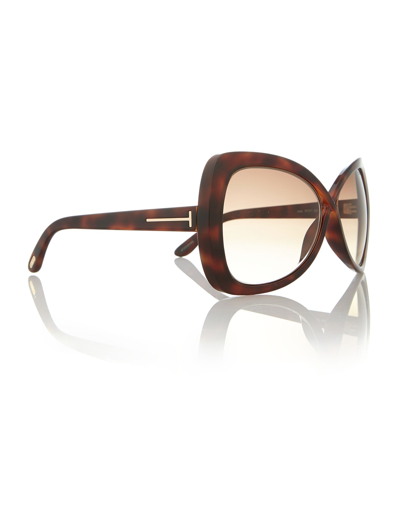 Ladies FT0277 tortoise brown jade sunglasses