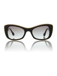 Ladies MU010S black butterfly sunglasses