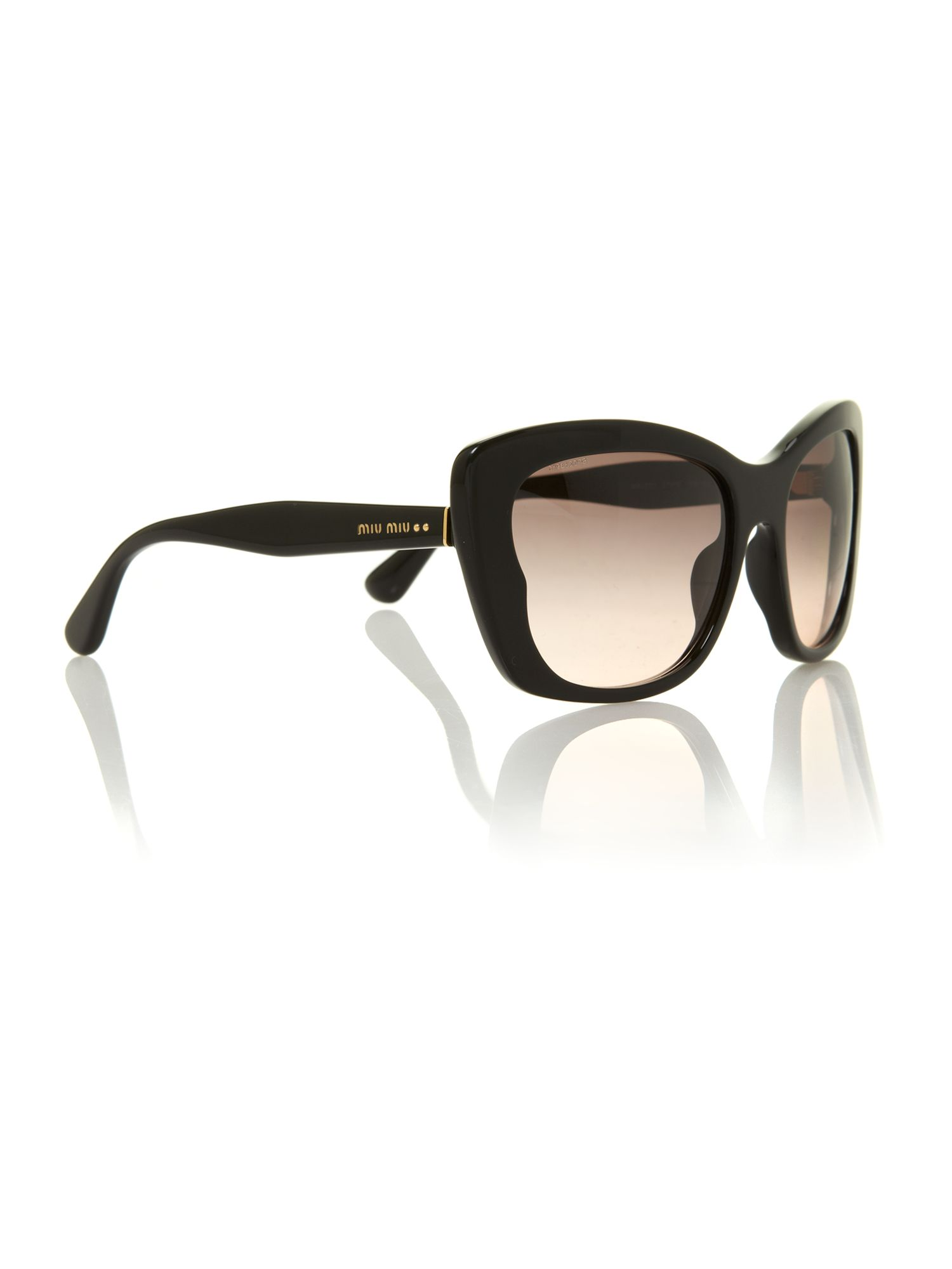 Ladies MU030S black butterfly sunglasses