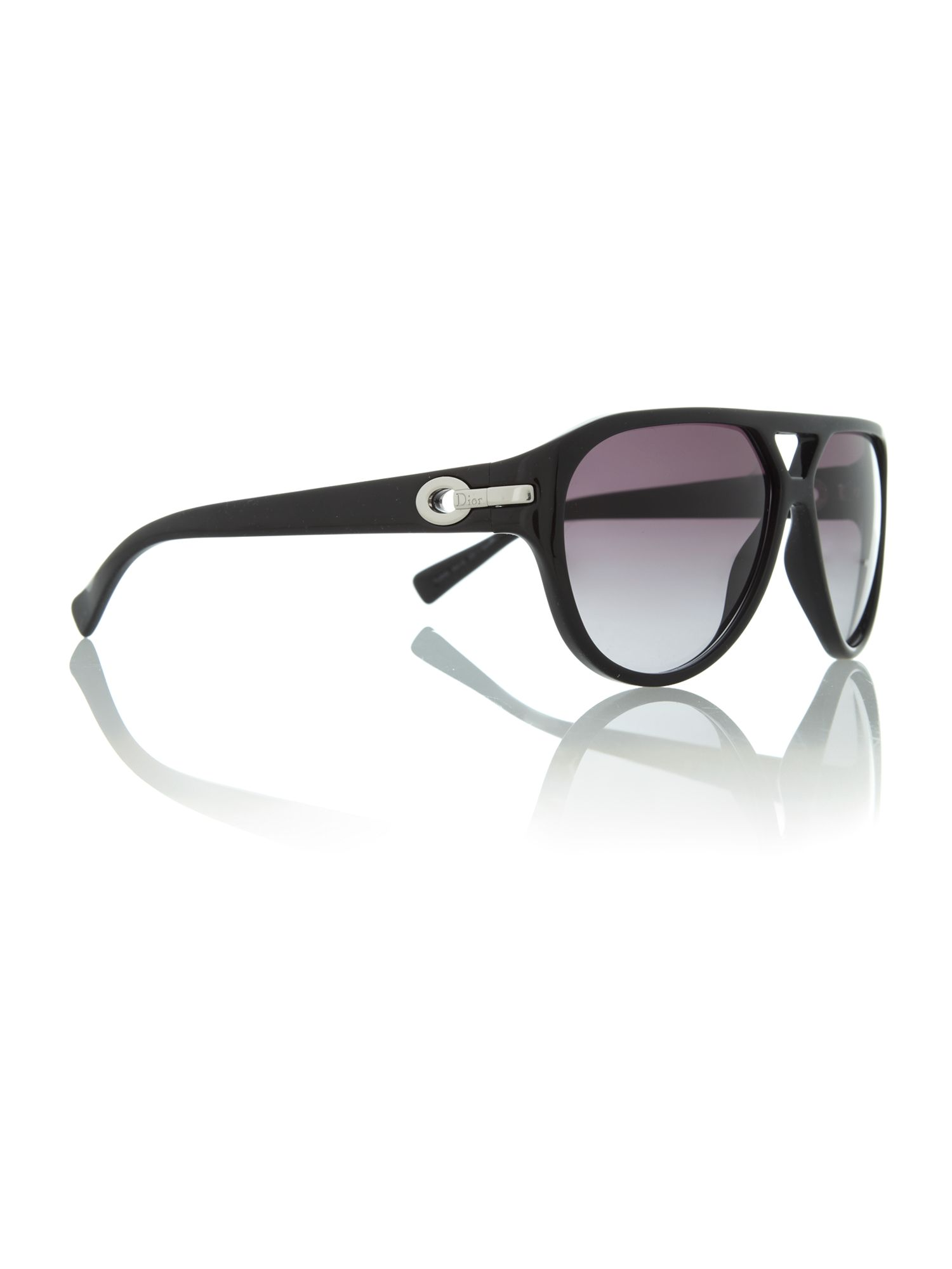 Ladies my MISSDIOR1 shiny black aviator style sun