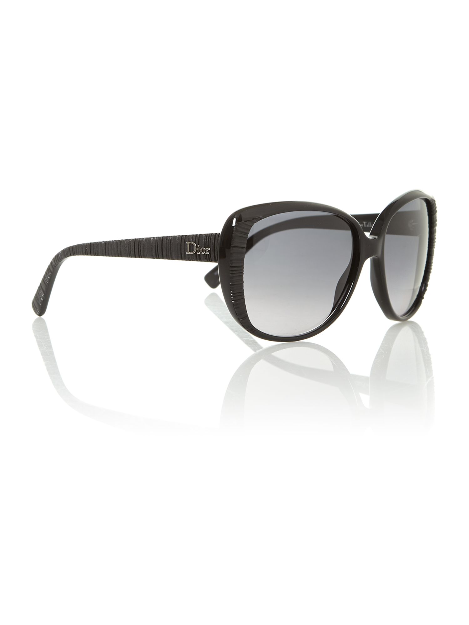 Ladies TAFFETAS2 black square sunglasses
