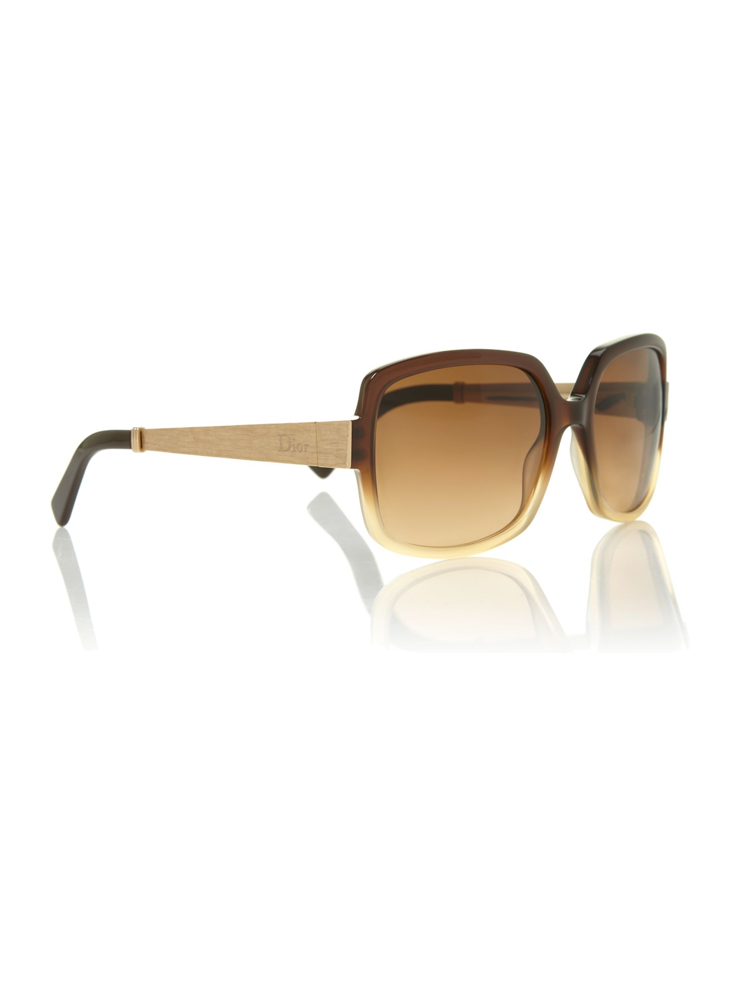 Ladies DIORSOIE2 brown square sunglasses
