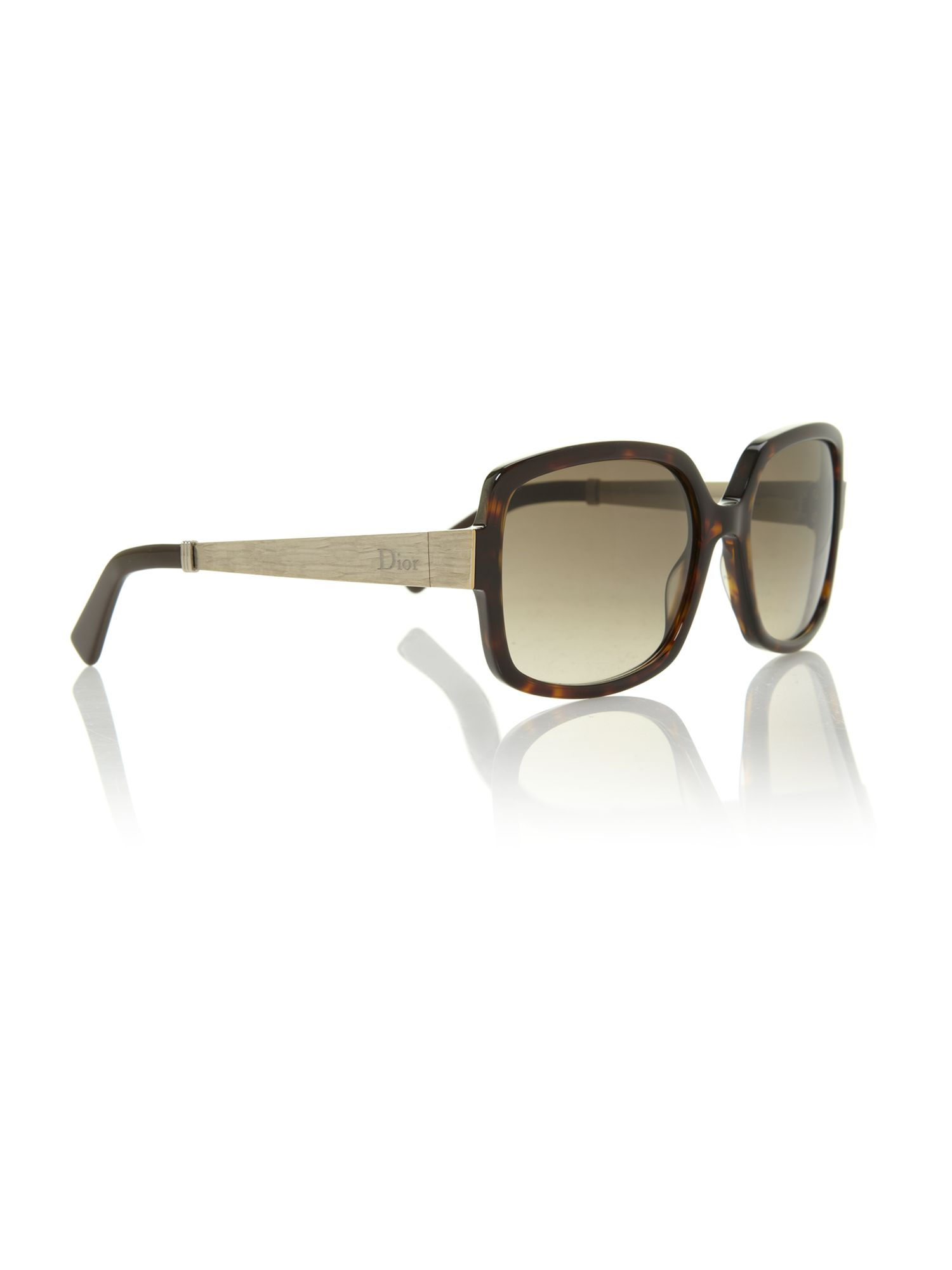 Ladies DIORSOIE2 dark havana square sunglasses