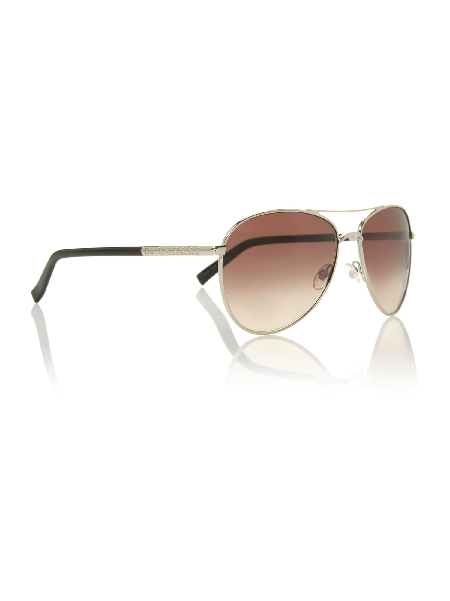 Ladies PICCADILY2 light gold aviator sunglasses