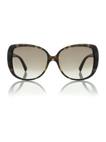Ladies TAFFETAS2 brown square sunglasses