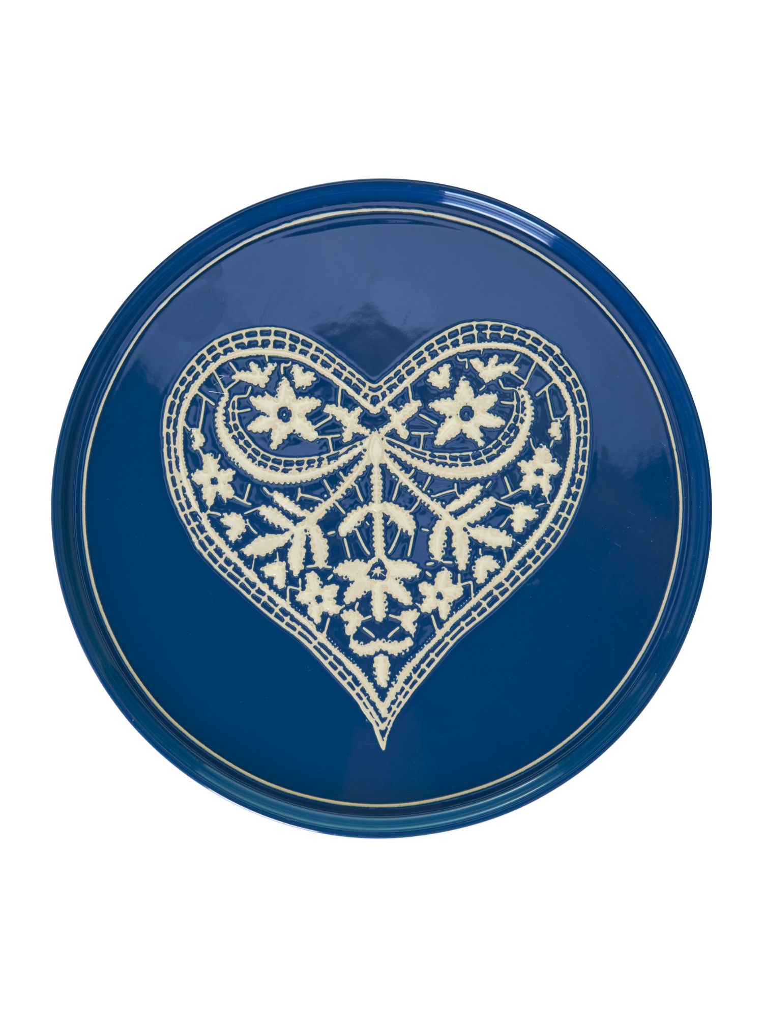 Jan constantine breakfast plate blue