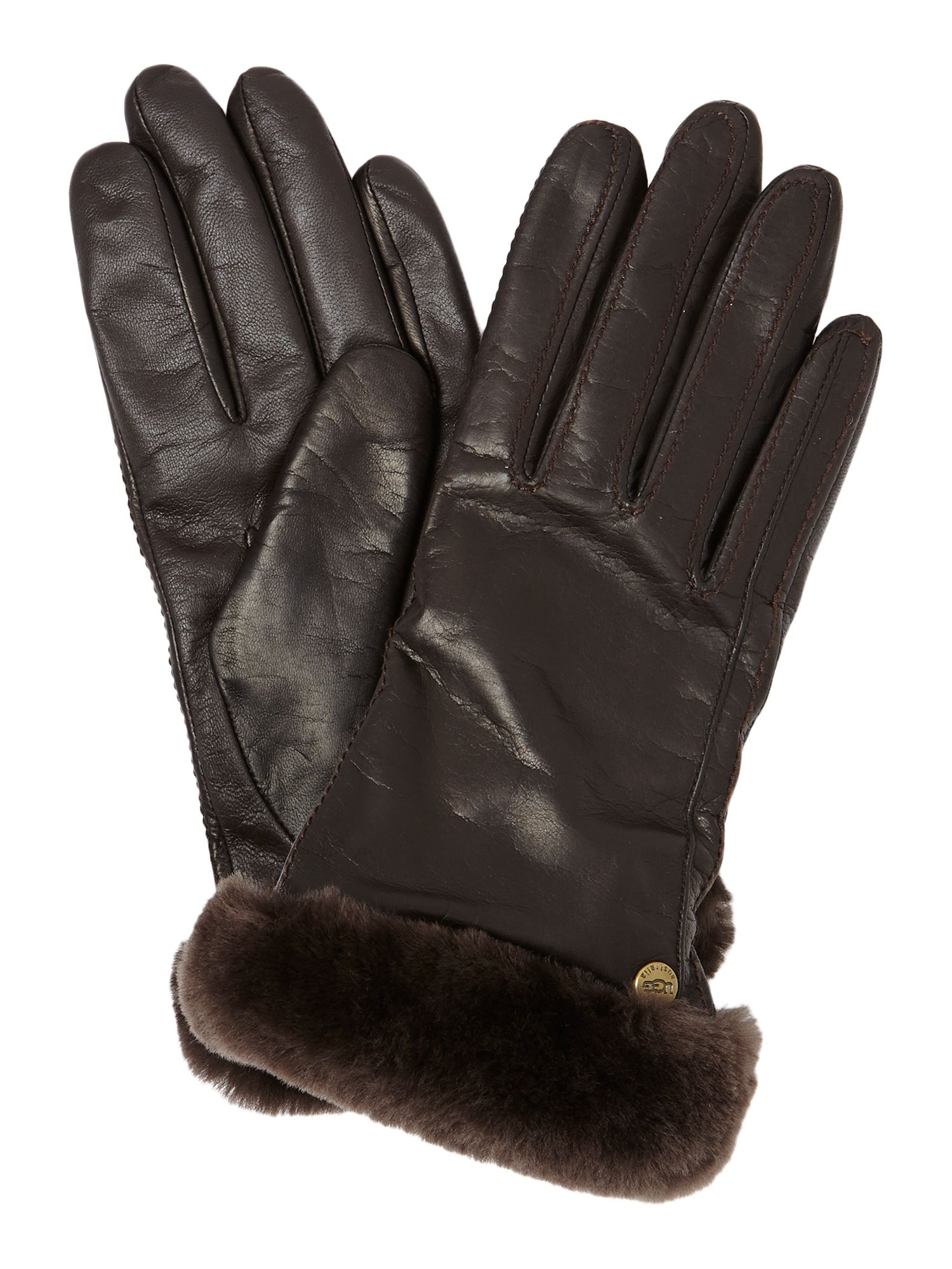 Classic leather touch screen glove