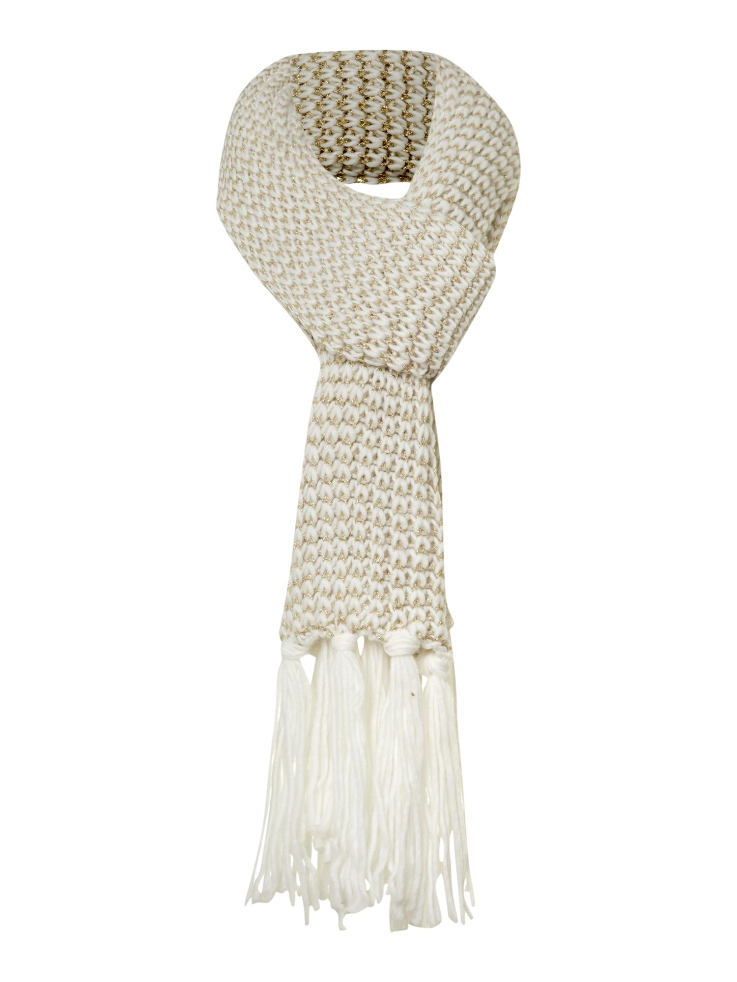 Cream mix and match scarf