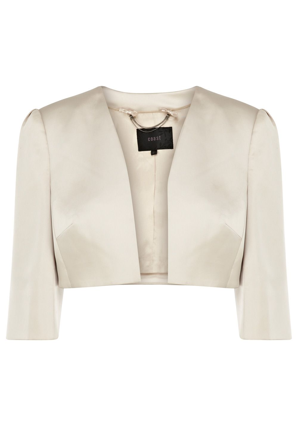 Tasmin duchess satin crop jacket