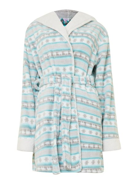 Therapy Fairisle print hooded robe