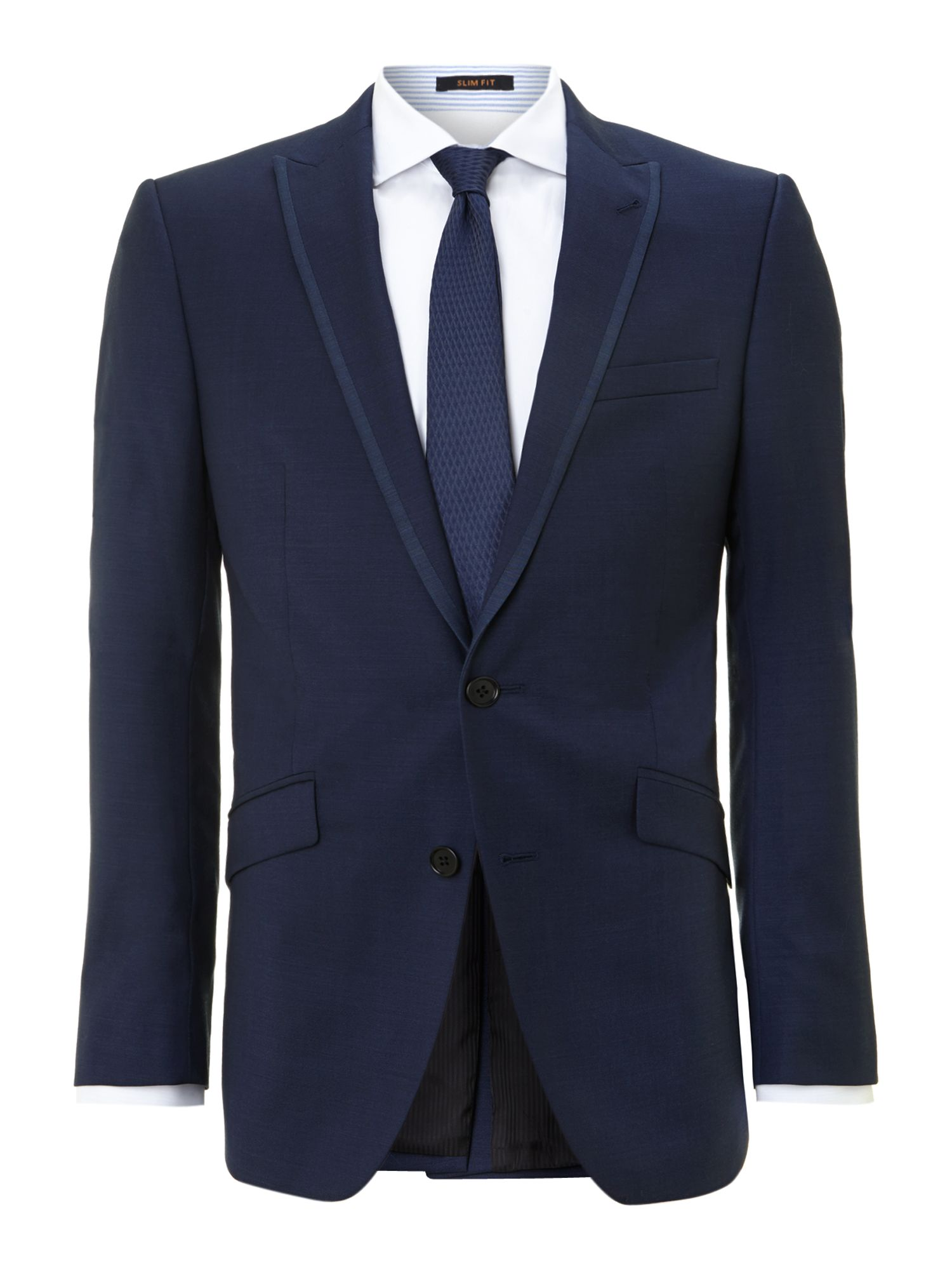 Tonic twill slim fit peak lapel suit