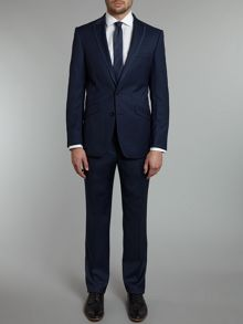 Simon Carter Tonic twill slim fit peak lapel suit