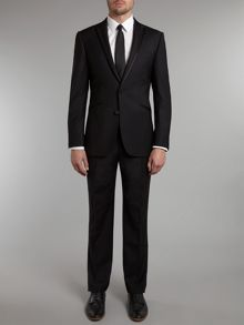 Simon Carter Satin edge slim fit dinner suit
