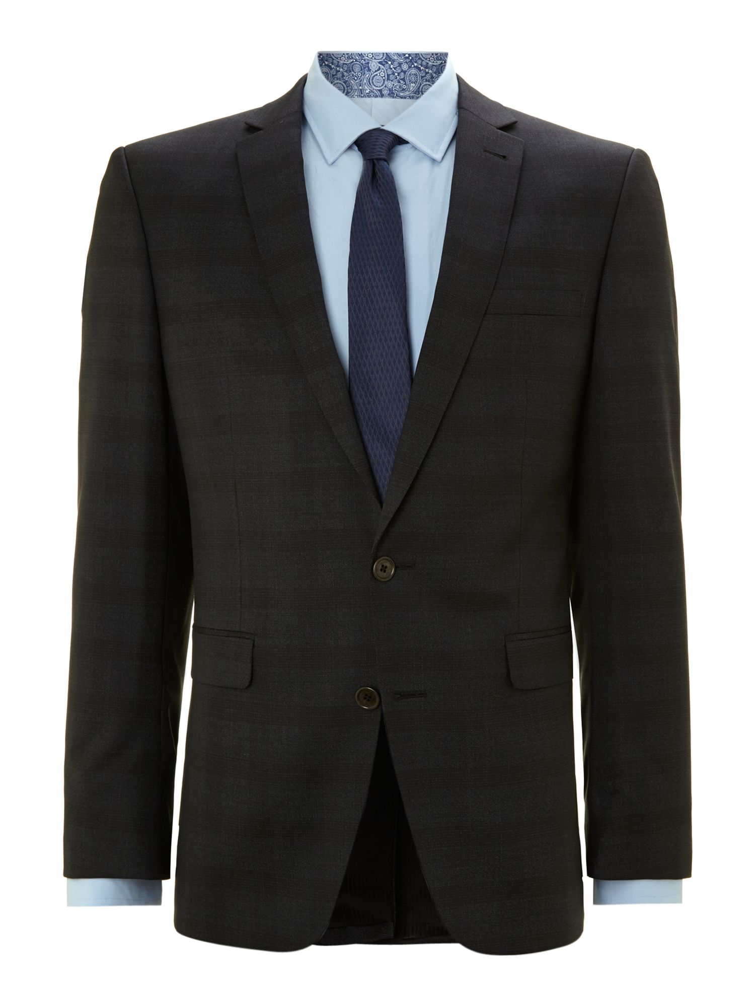 Faint check slim fit suit