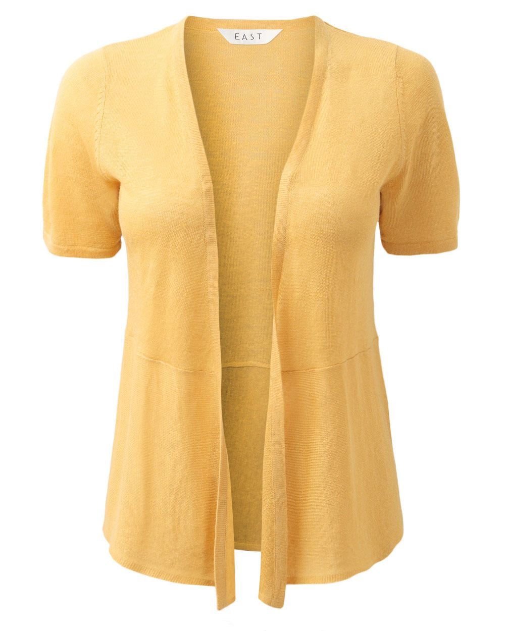 Short sleeve linen cardigan