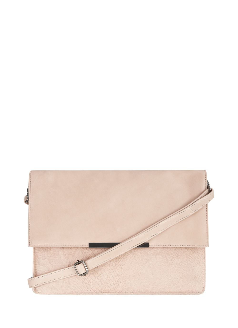 Foundation leather & snake suede clutch bag