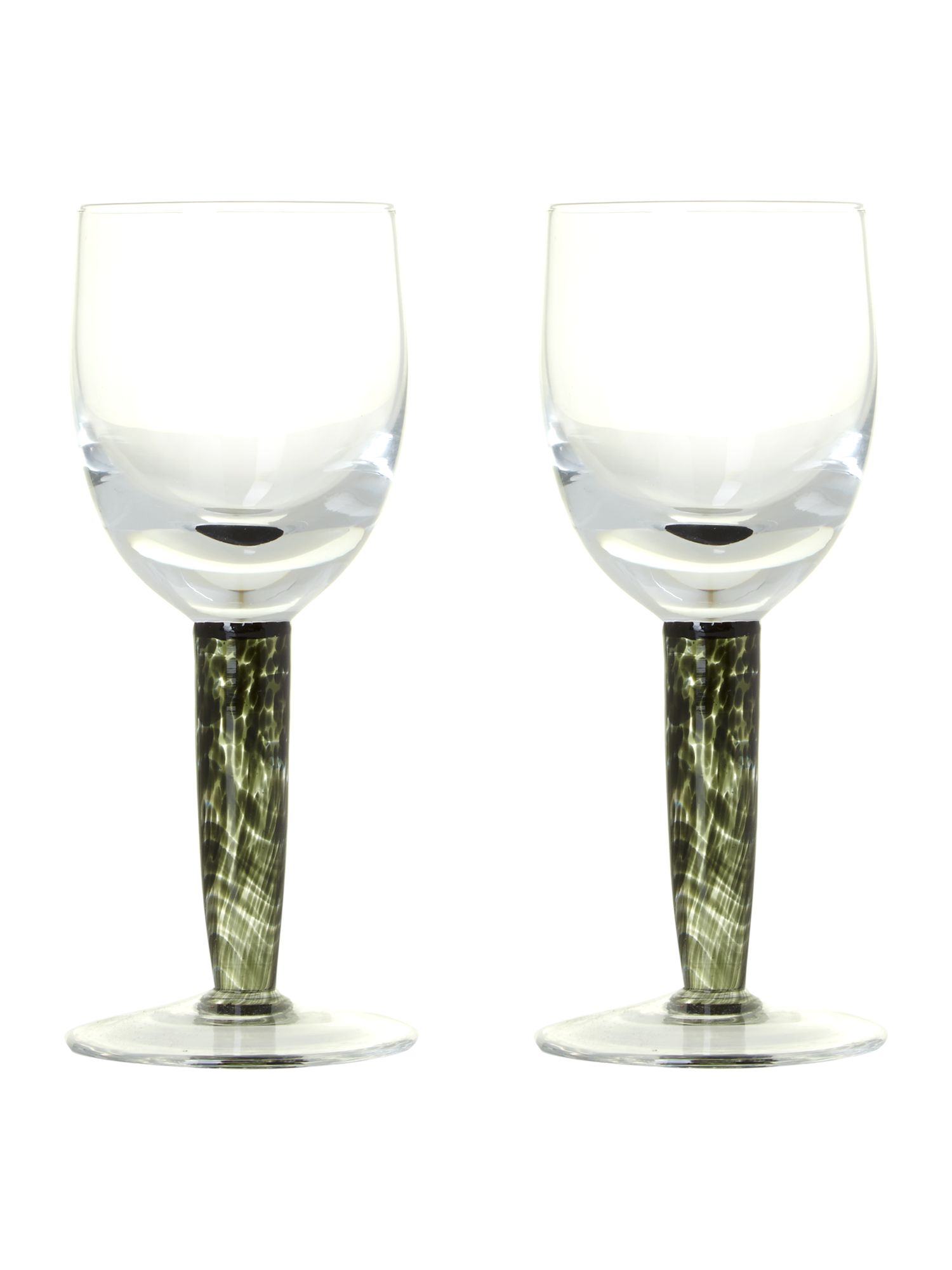 Jet white wine glasses (pack of 2)
