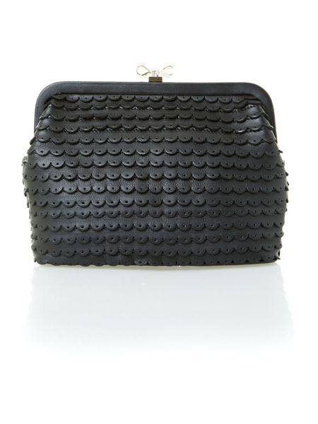 Red Valentino Black leather clutch bag