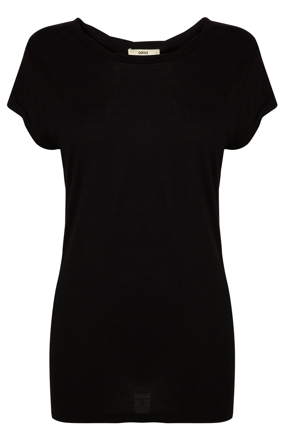 Basic twist neck tee