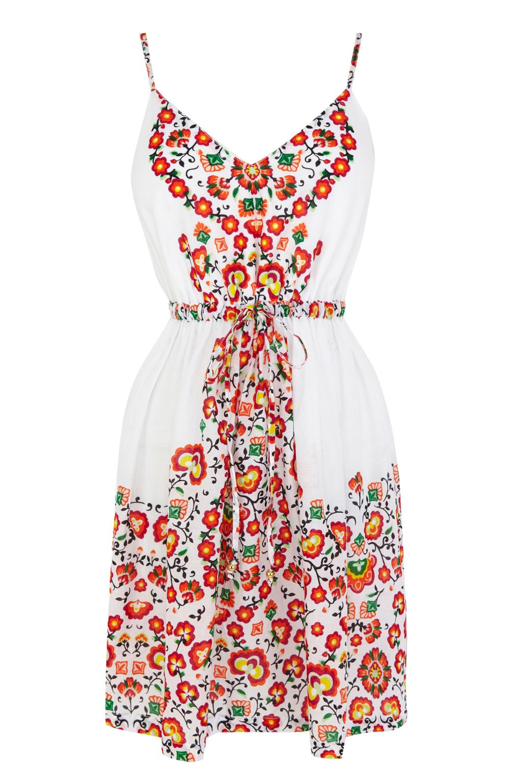 Flower placement dress