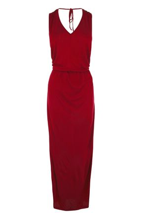 Warehouse V Back Maxi Dress