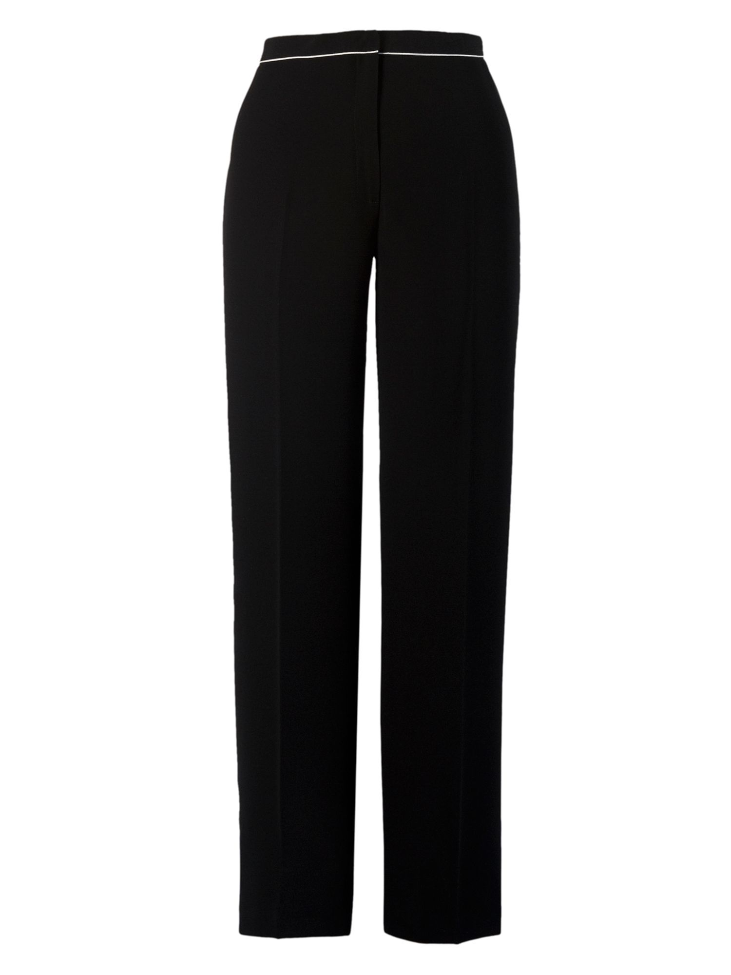 Crepe jersey trouser with piping