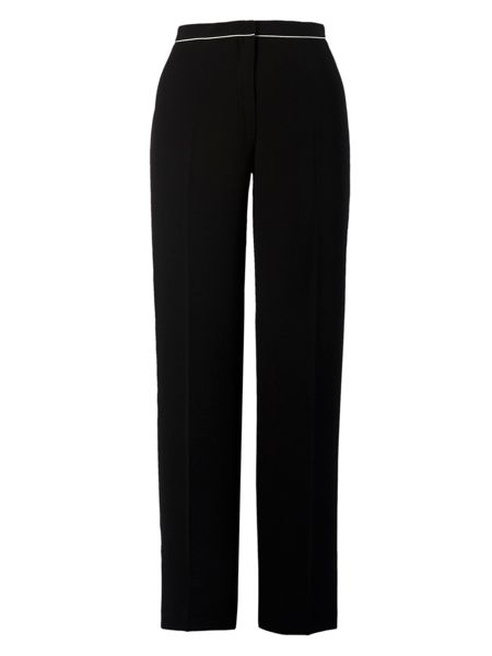 Chesca Plus Size Crepe jersey trouser with piping