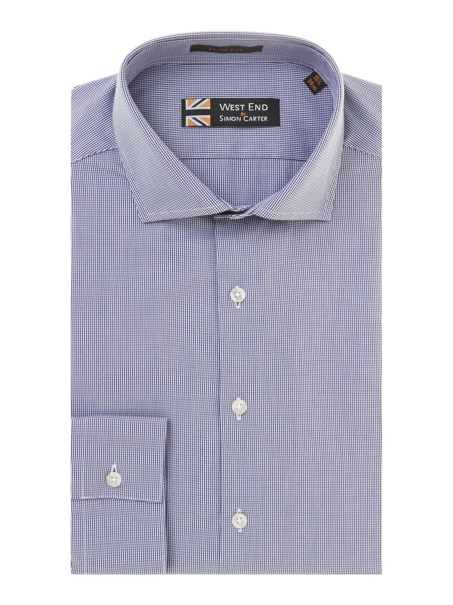 Puppytooth slim fit shirt