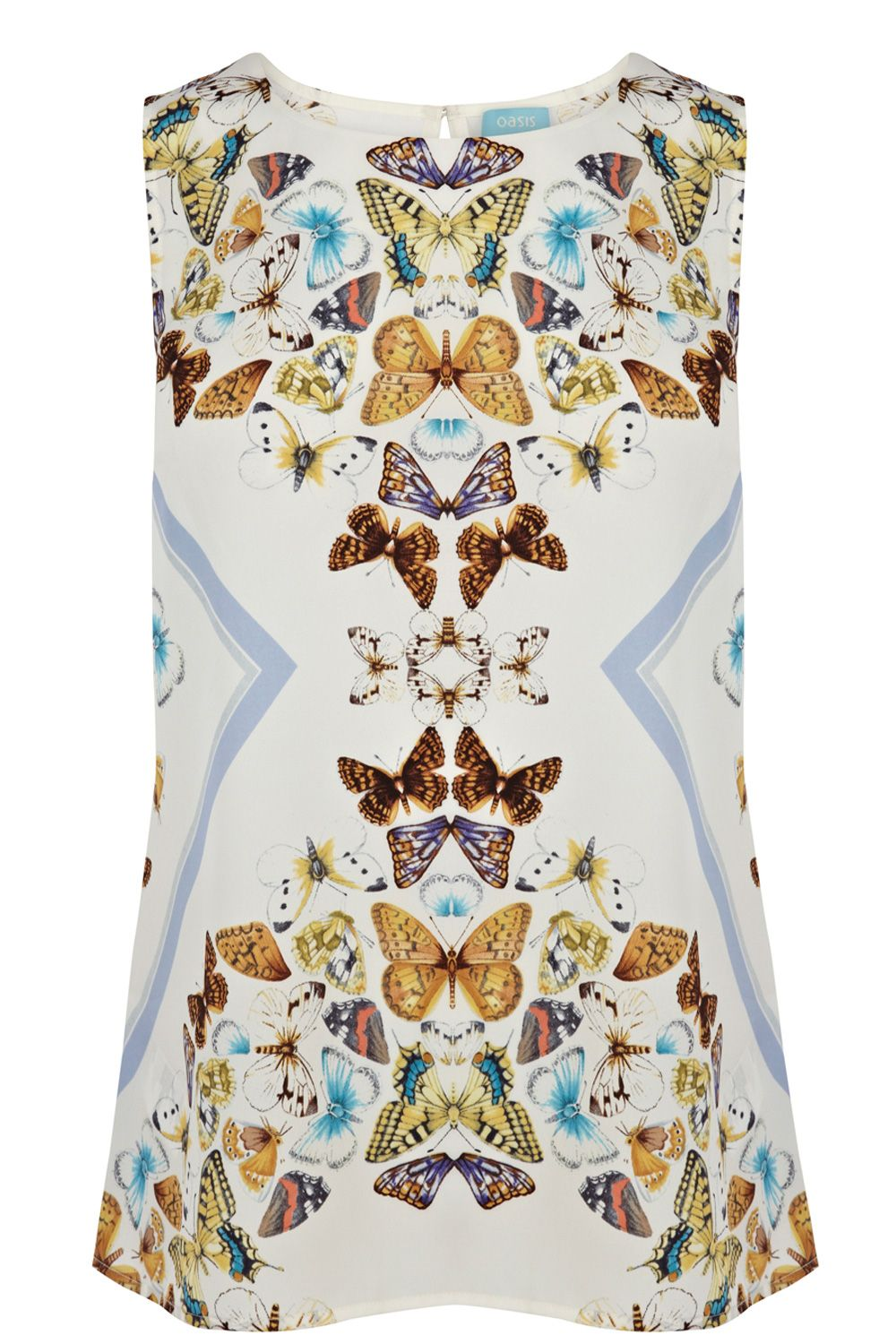 Butterfly placement shell top