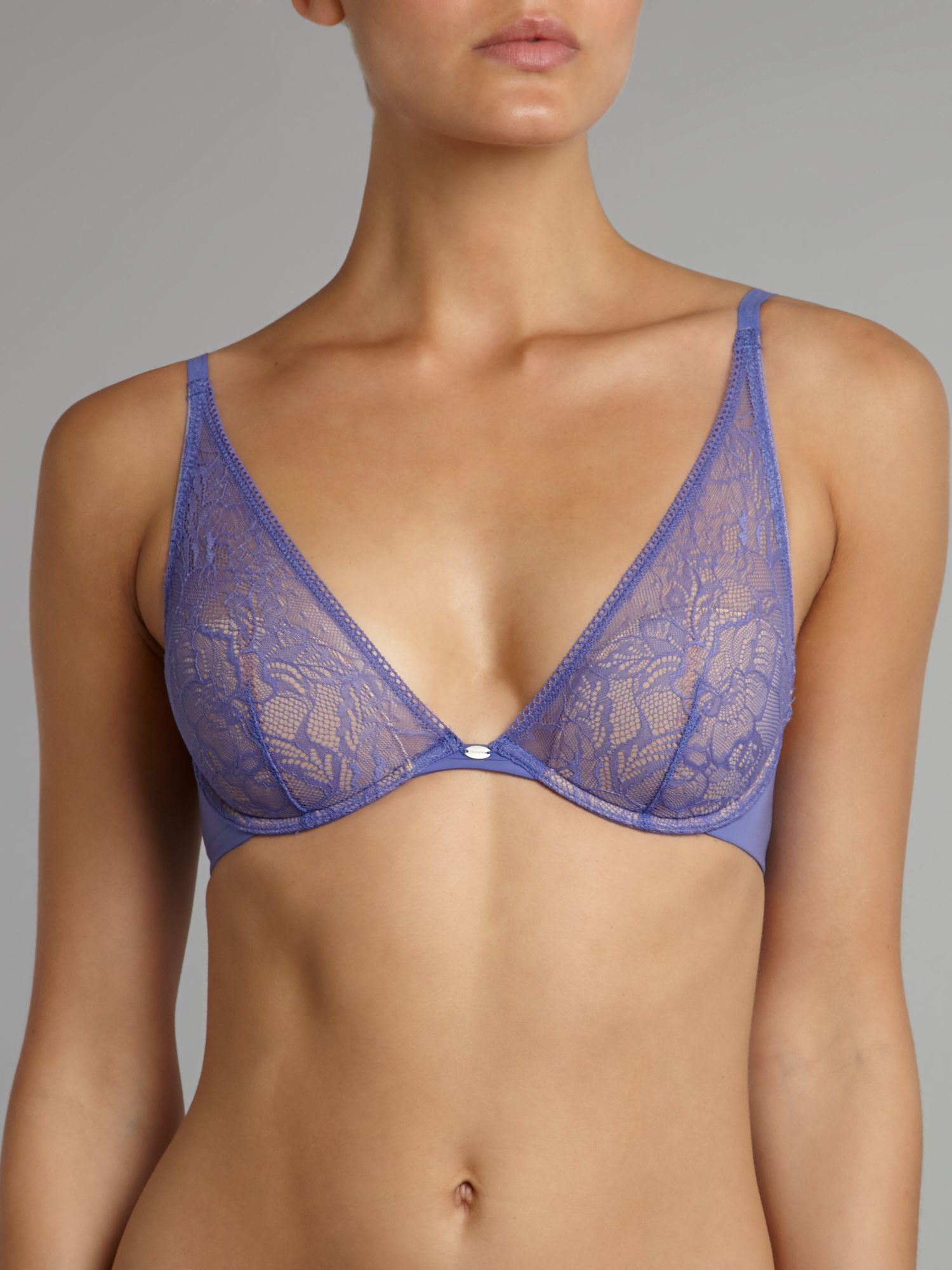 Naked glamour provocative plunge bra
