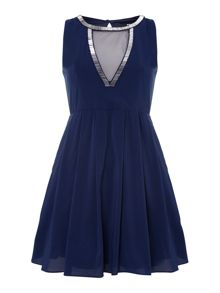 Keyhole fit and flare dress