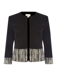 Gabi edge to edge cropped panel jacket