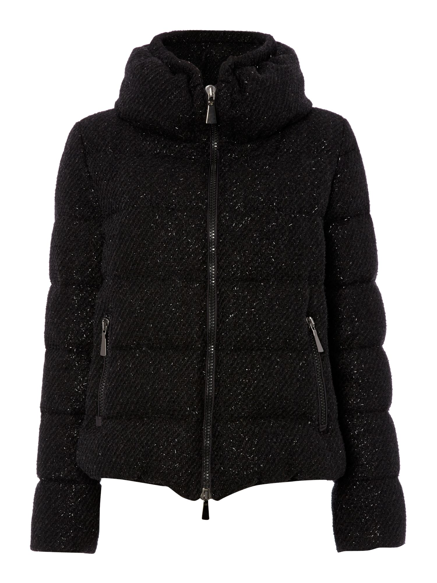Amarena short padded coat with sparkle detail