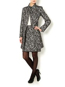 Grammo monochrome printed coat
