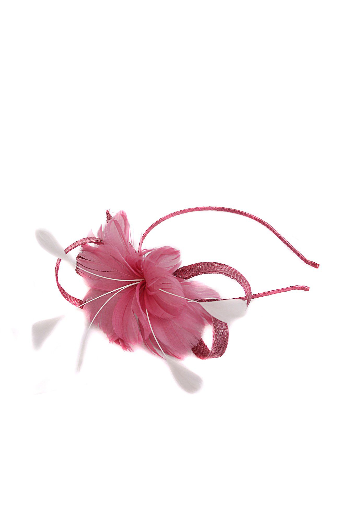 Feather petal fascinator