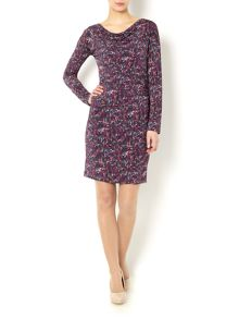 Marella Schizzo cowl neck rouched dress