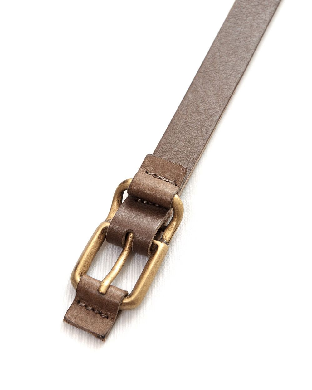 Tab leather trousers belt