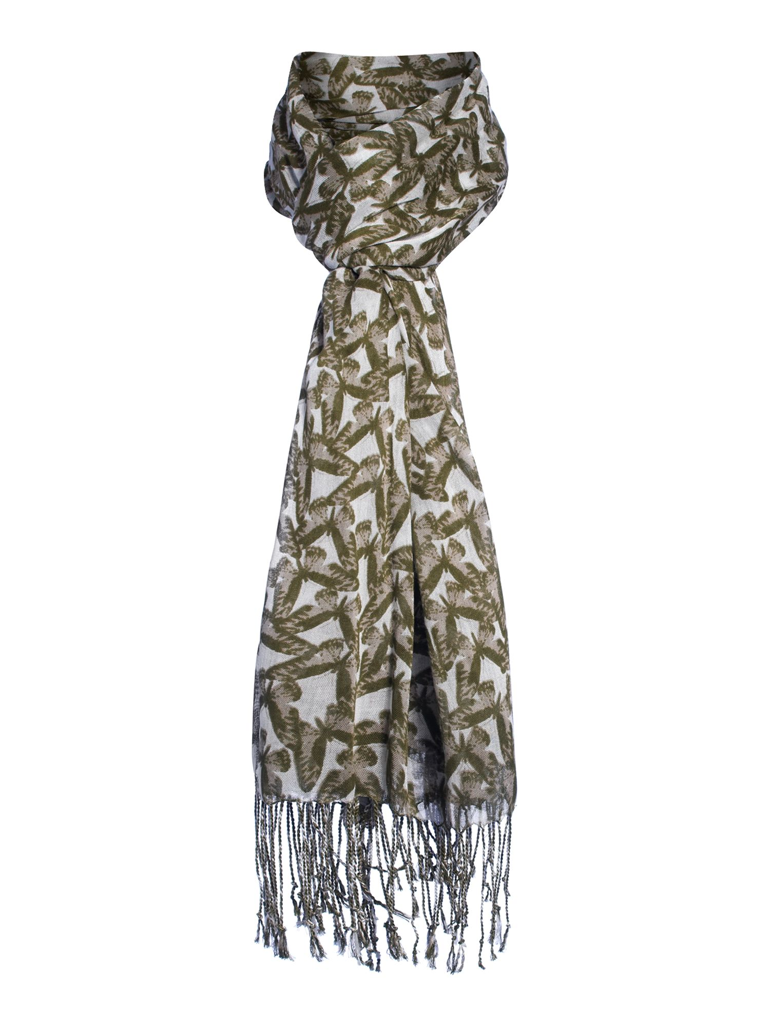 Butterfly conversational scarf
