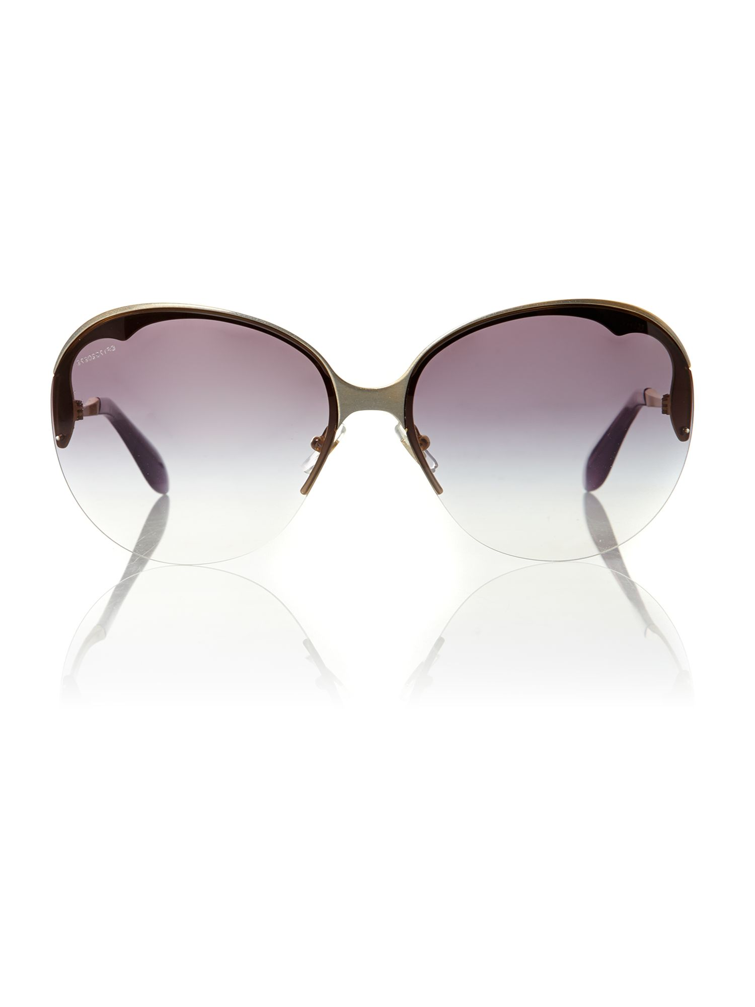 Ladies MU51OS silver metal sunglasses