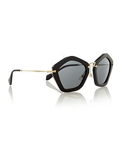 Ladies black grey cat eye sunglasses