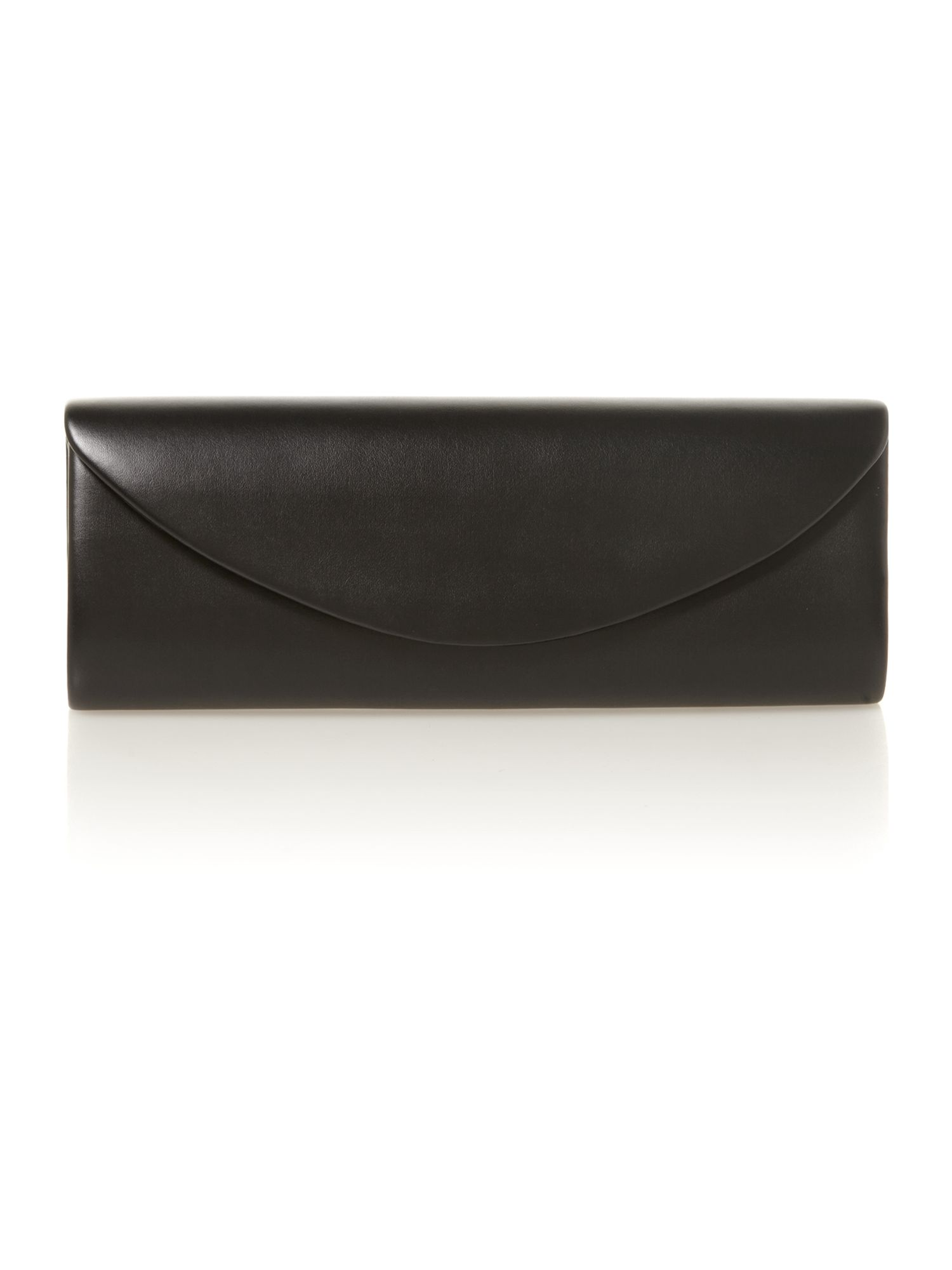 Black classic foldover clutch bag