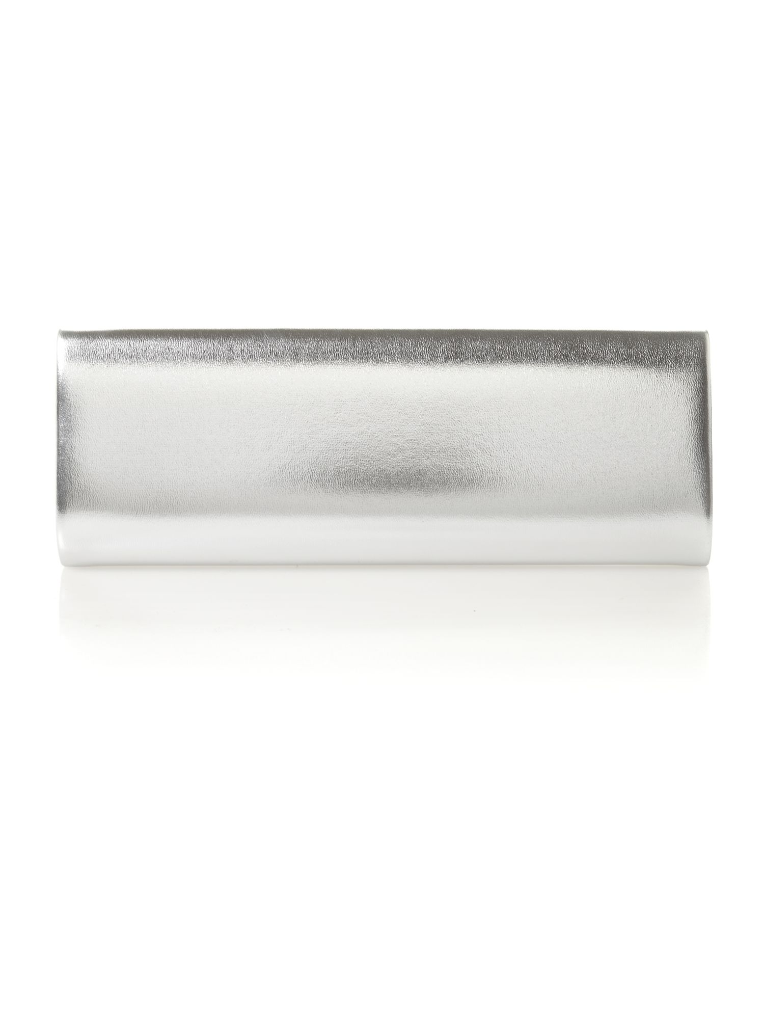 Grey classic foldover clutch bag