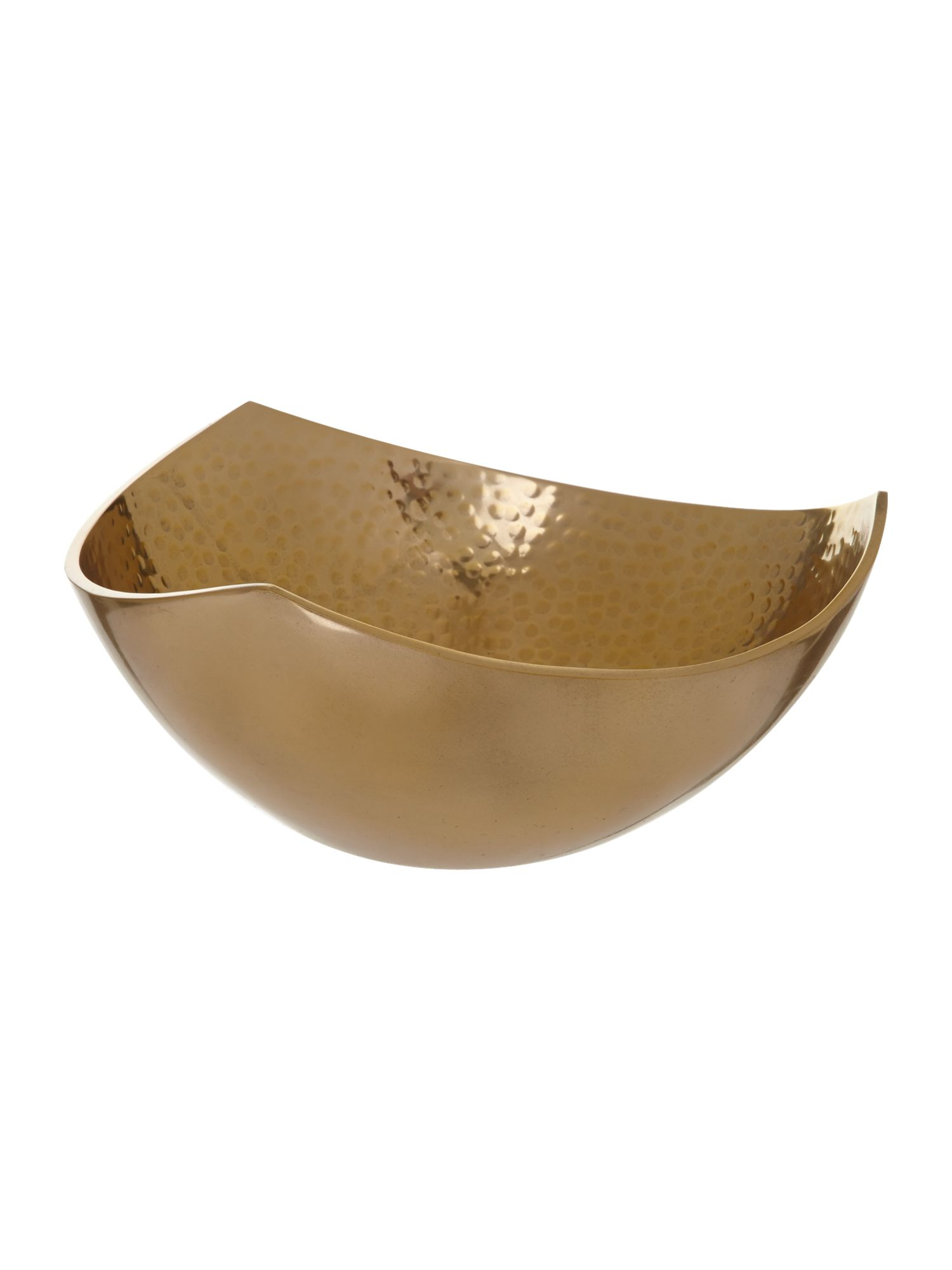 Beaten metal medium bowl