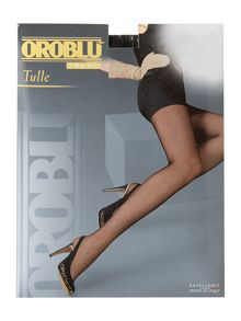 Tulle micronet tights