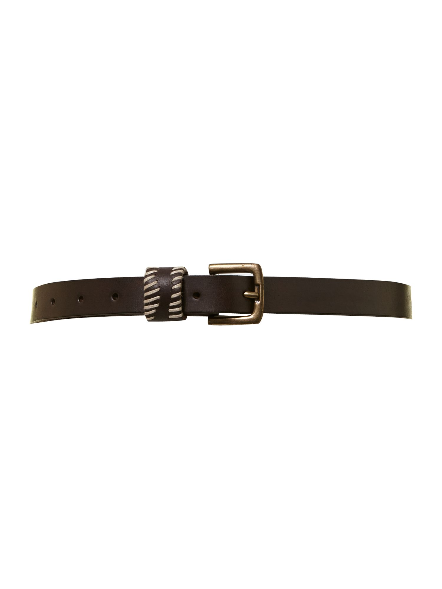 Casual trouser belt choc