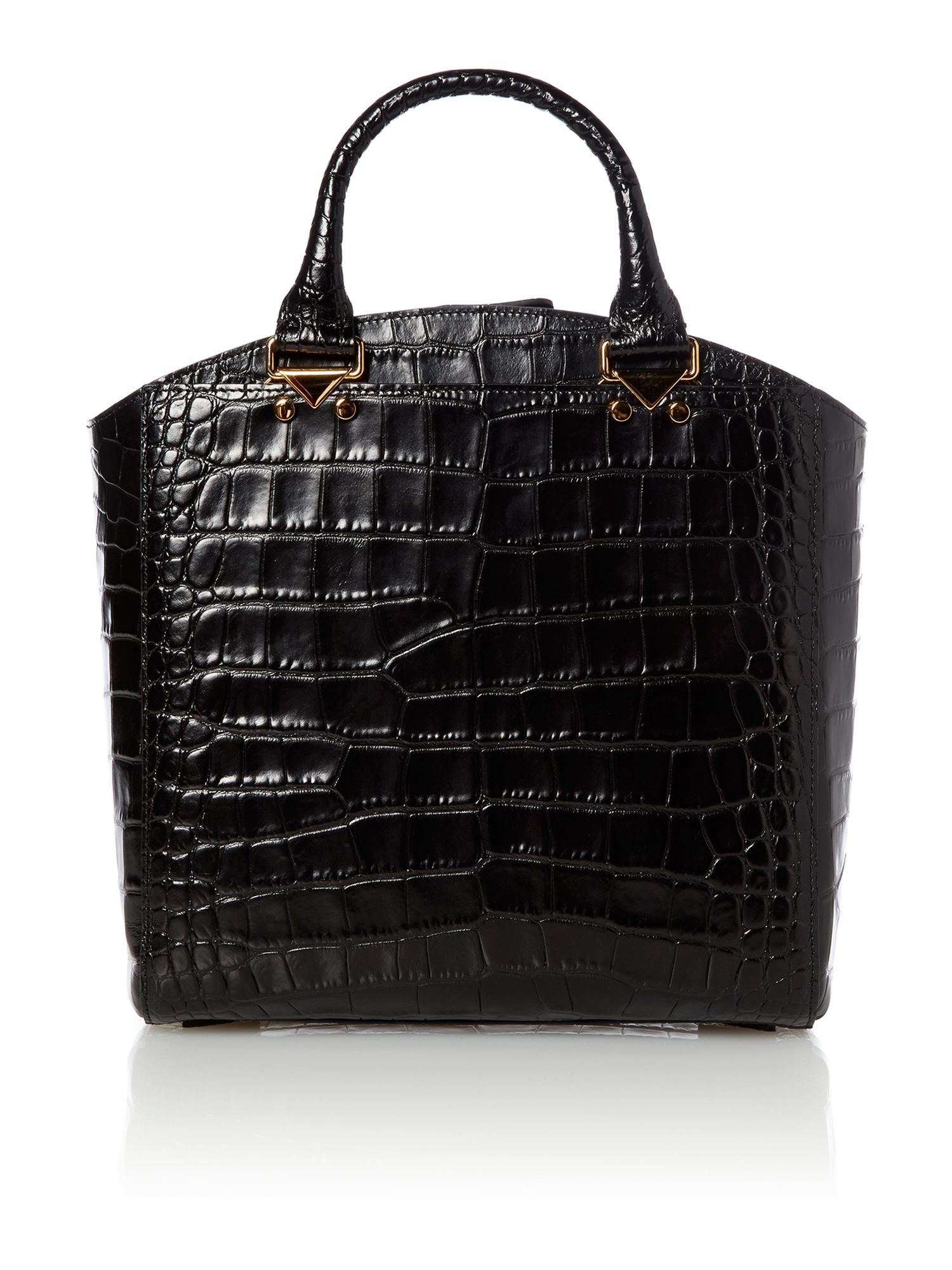 Black across the body tote