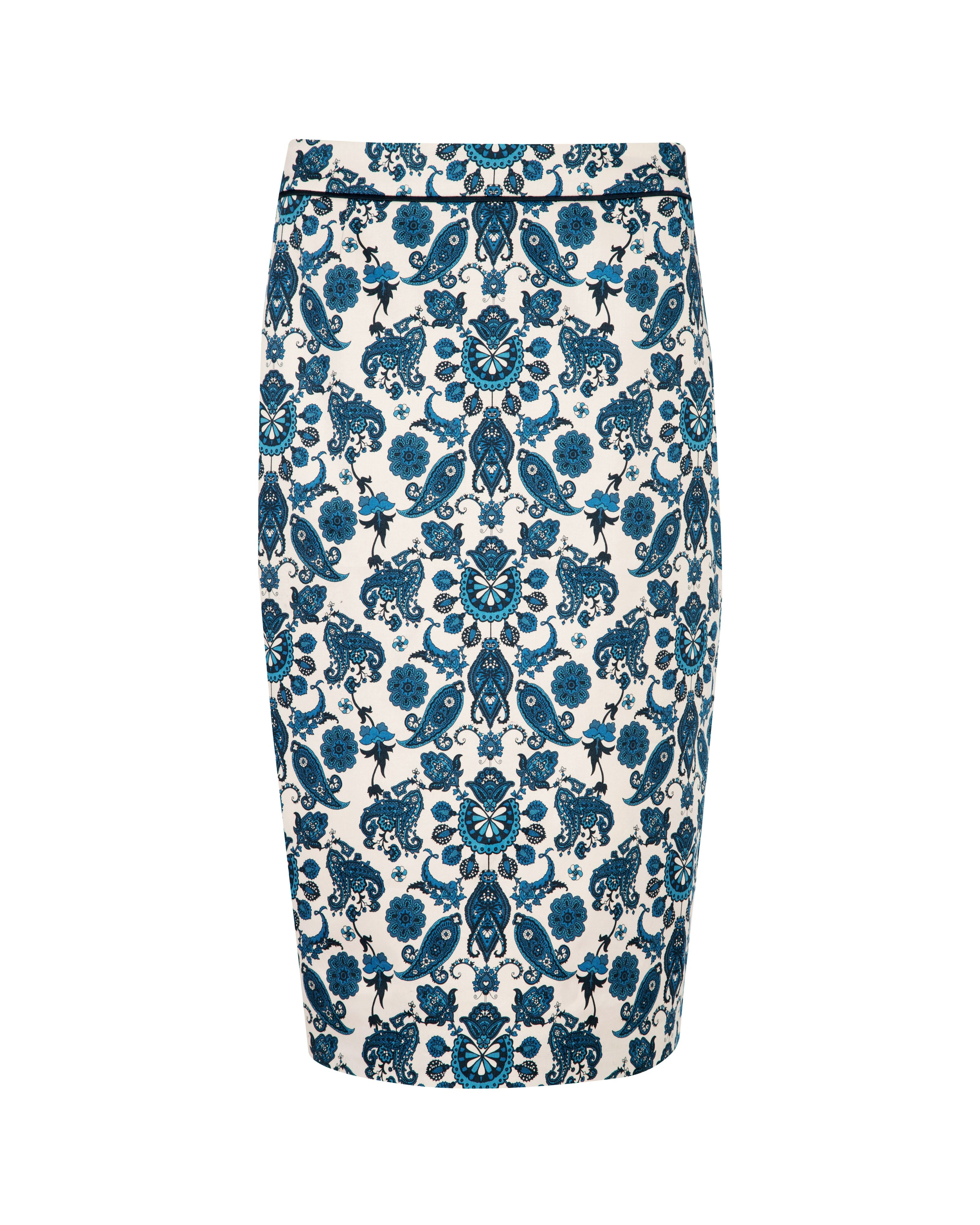 Madisyn summer paisley pencil skirt