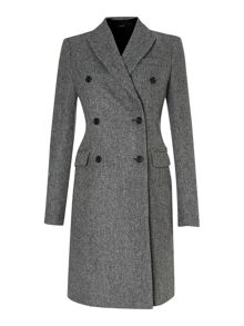 Panda double breasted wool coat