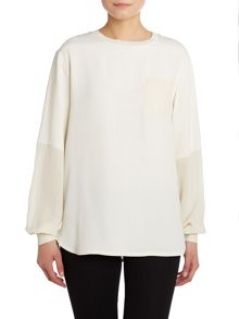 Joseph Yankee silk pocket blouse